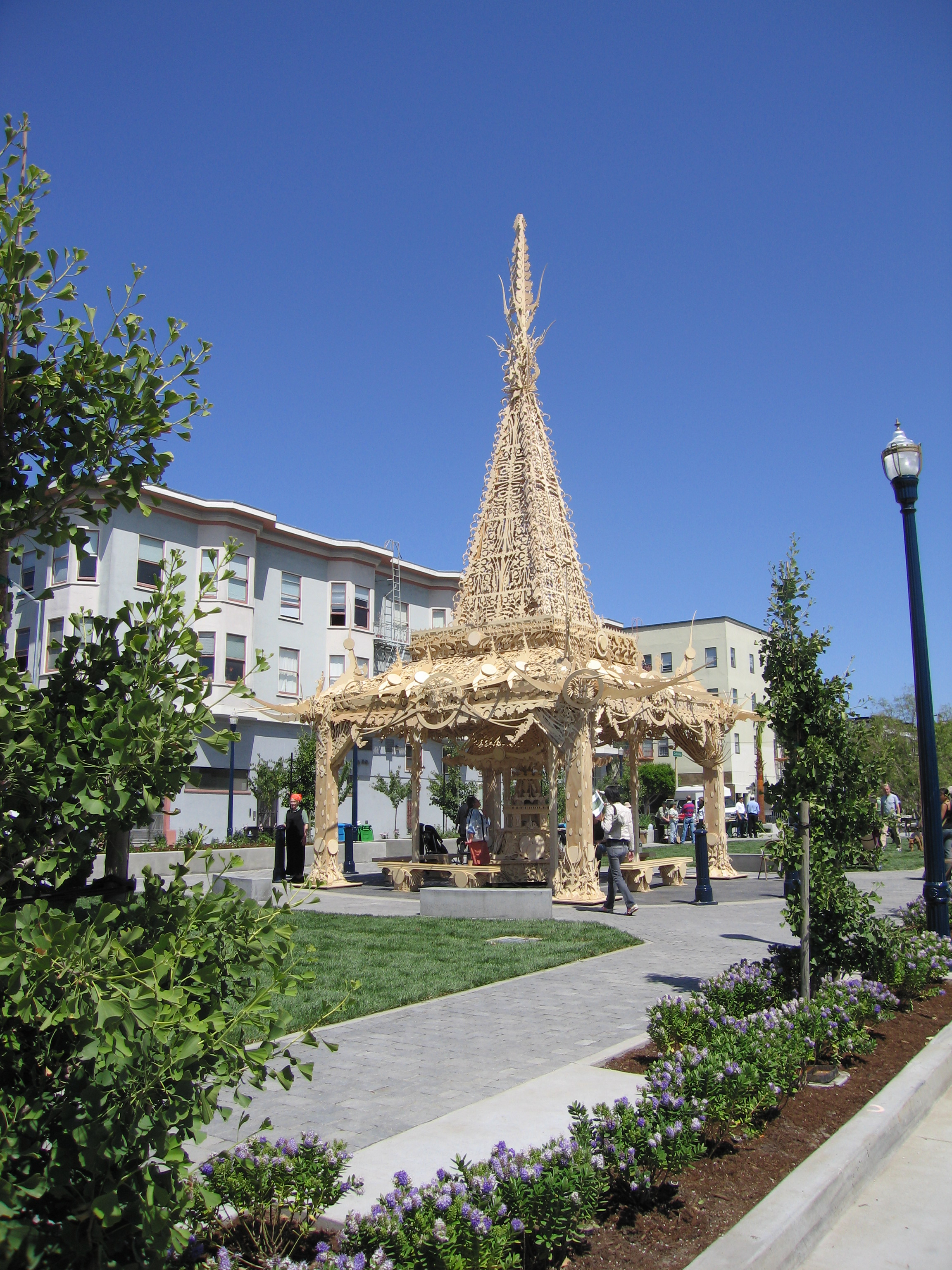 The Hayes Valley Temple at Patricia's Green in San Francisco, California.