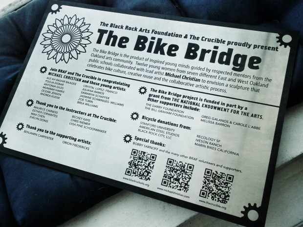 The Bike Bridge Sign
