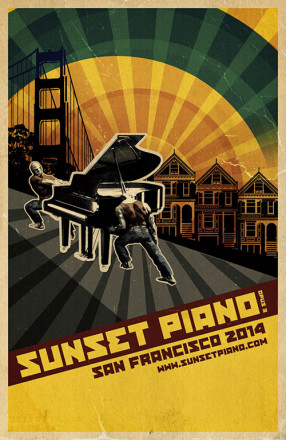 Sunset Piano Opus 3 Poster